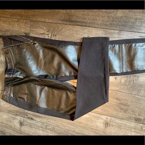 White House black market faux leather leggings